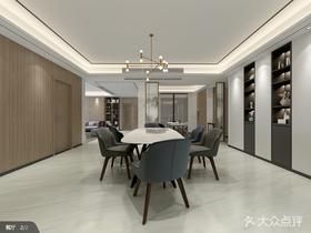 140平米四室一厅中式风格餐厅图