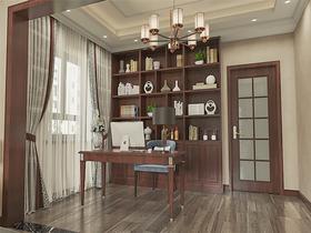 140平米別墅中式風格書房裝修圖片大全