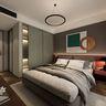 140平米三现代简约风格卧室效果图