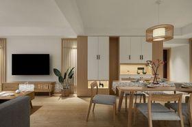 120平米三室兩廳日式風格餐廳圖
