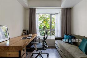 120平米三室兩廳現代簡約風格書房欣賞圖