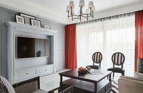 富裕型140平米三室两厅美式风格客厅装修图片大全
