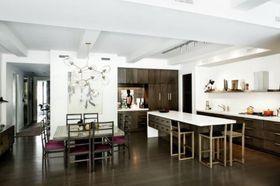 10-15万110平米三室一厅混搭风格厨房图片