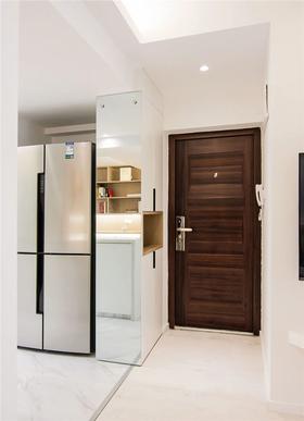 80平米三室兩廳現代簡約風格玄關圖片
