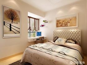 10-15万90平米三室两厅现代简约风格卧室欣赏图