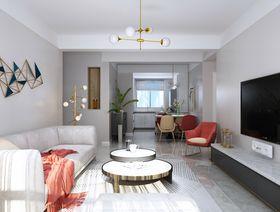 120平米三室兩廳現代簡約風格客廳裝修效果圖