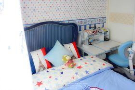 富裕型90平米三室两厅现代简约风格儿童房装修图片大全