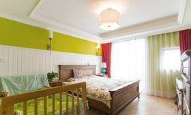 富裕型120平米三室两厅中式风格卧室图片大全