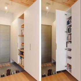 140平米公寓现代简约风格玄关欣赏图