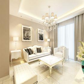 15-20万120平米三室一厅现代简约风格客厅装修案例