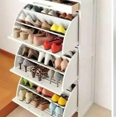 原本只能横着放下一只鞋子的鞋柜,我妥妥的放进去50双