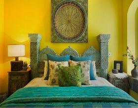 70平米东南亚风格卧室图片