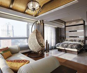 富裕型130平米中式风格卧室图片大全