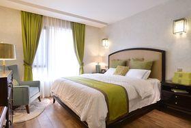 110平米三室两厅美式风格卧室飘窗图