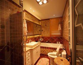 富裕型110平米三室一厅地中海风格卫生间图片大全