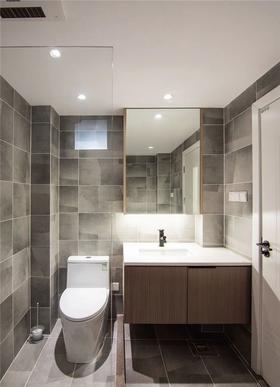 80平米三室兩廳現代簡約風格衛生間設計圖