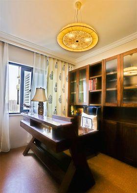 富裕型100平米三室两厅中式风格书房图片