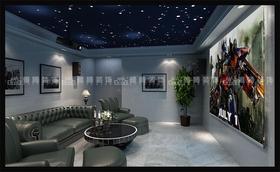 140平米复式混搭风格影音室欣赏图