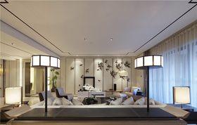 110平米三室一厅中式风格客厅图