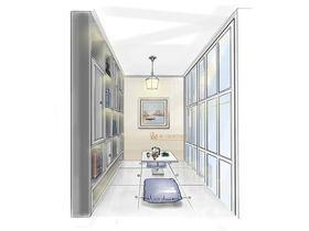 130平米三室两厅北欧风格储藏室图片大全