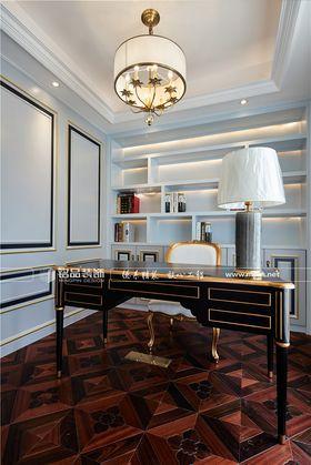 140平米四室三厅法式风格书房图片