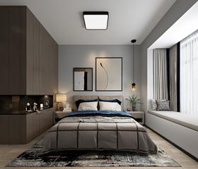 110平米三室兩廳現代簡約風格臥室圖片大全
