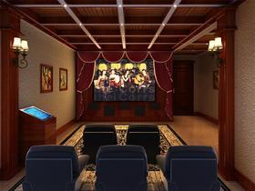 20万以上140平米别墅新古典风格影音室图片