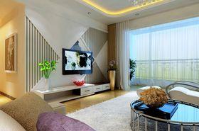 10-15万90平米三室两厅现代简约风格客厅装修图片大全