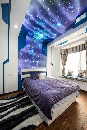 富裕型90平米现代简约风格卧室图