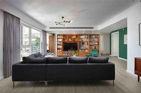 140平米三室两厅混搭风格客厅图片