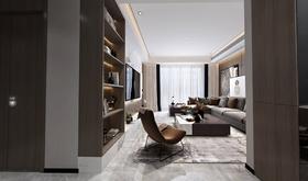 110平米三室兩廳現代簡約風格客廳裝修案例