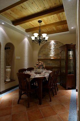 90平米三室两厅地中海风格餐厅欣赏图