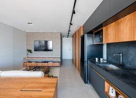 70平米日式風格客廳設計圖