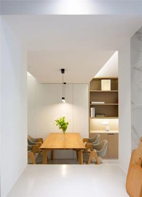 80平米三室兩廳現代簡約風格餐廳裝修圖片大全