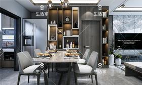 100平米三室一厅中式风格餐厅装修案例