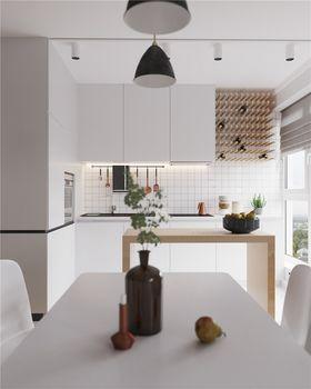 100平米三室一厅现代简约风格厨房图