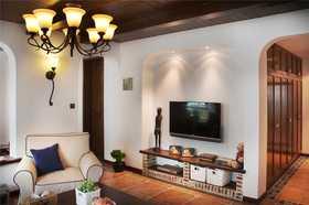 90平米地中海风格客厅效果图