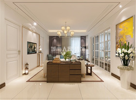 120平米三現代簡約風格客廳設計圖