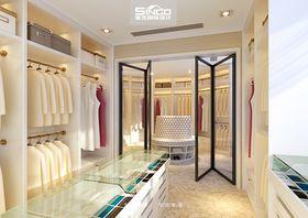 豪华型140平米别墅现代简约风格衣帽间鞋柜图片大全