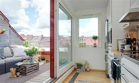 30平米以下超小户型现代简约风格阳台装修案例