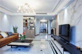 140平米三室两厅现代简约风格客厅图
