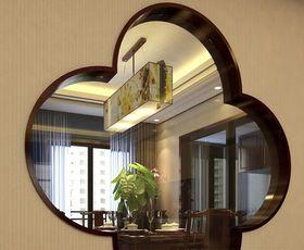 90平米三室两厅中式风格玄关图片大全