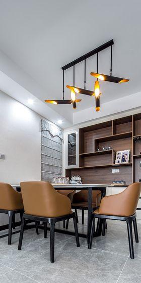 130平米三室两厅现代简约风格餐厅装修图片大全