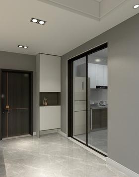 80平米三室两厅现代简约风格厨房图片大全