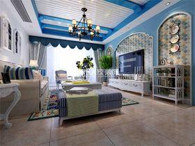 140平米四地中海风格客厅效果图