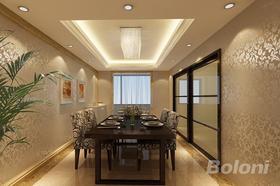 140平米三室兩廳現代簡約風格餐廳裝修案例