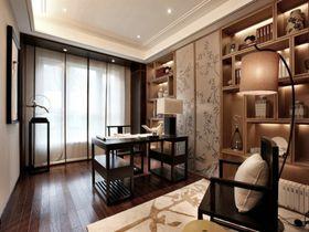 经济型130平米三室两厅中式风格书房装修效果图