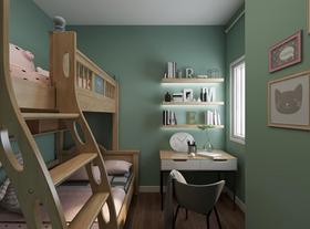 70平米三室兩廳北歐風格兒童房圖片大全