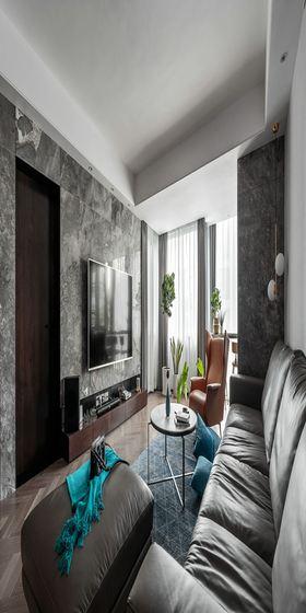 120平米现代简约风格客厅图