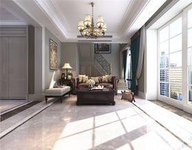 140平米复式美式风格客厅图片